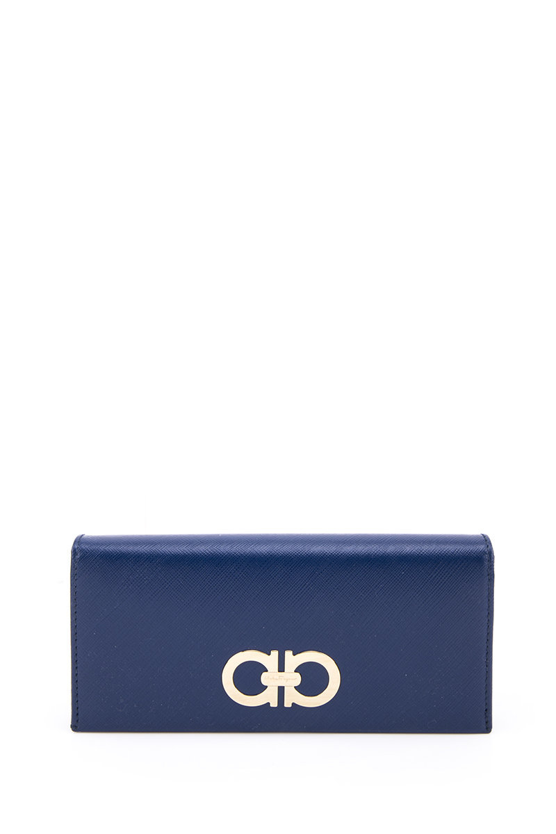 Double Gancio Fold Long Wallet-Blue-FGWT15WH00113