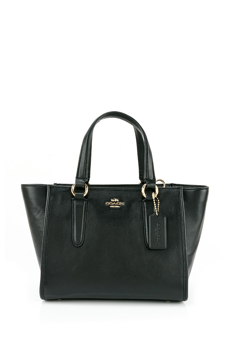Crosby Carryall In Smooth Leather - Black - COHB16SH00096