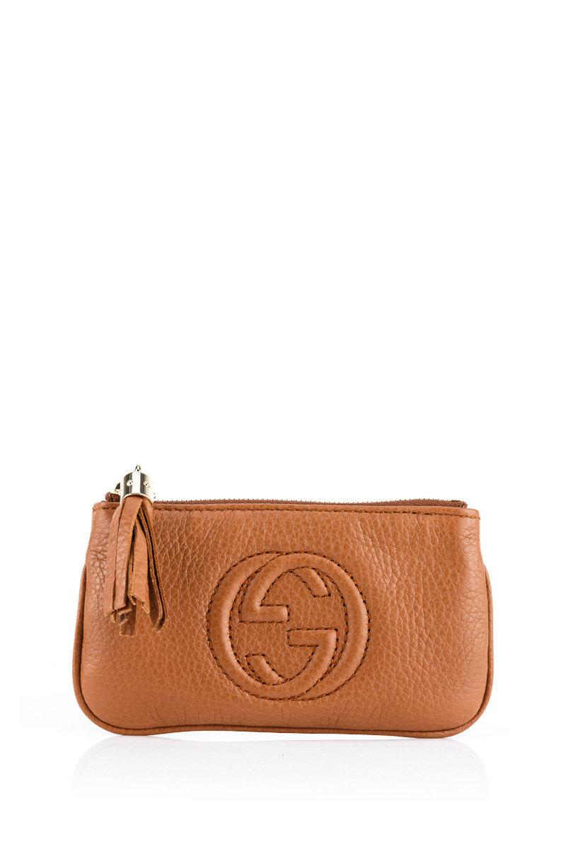 Soho Leather Key Case - Beige - GCWT14WH00037