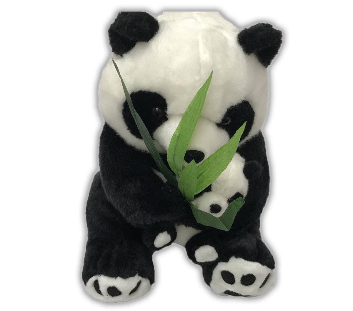 Panda Collections Big Foot Panda Mum Baby Hold A Bamboo Hktvmall Online Shopping