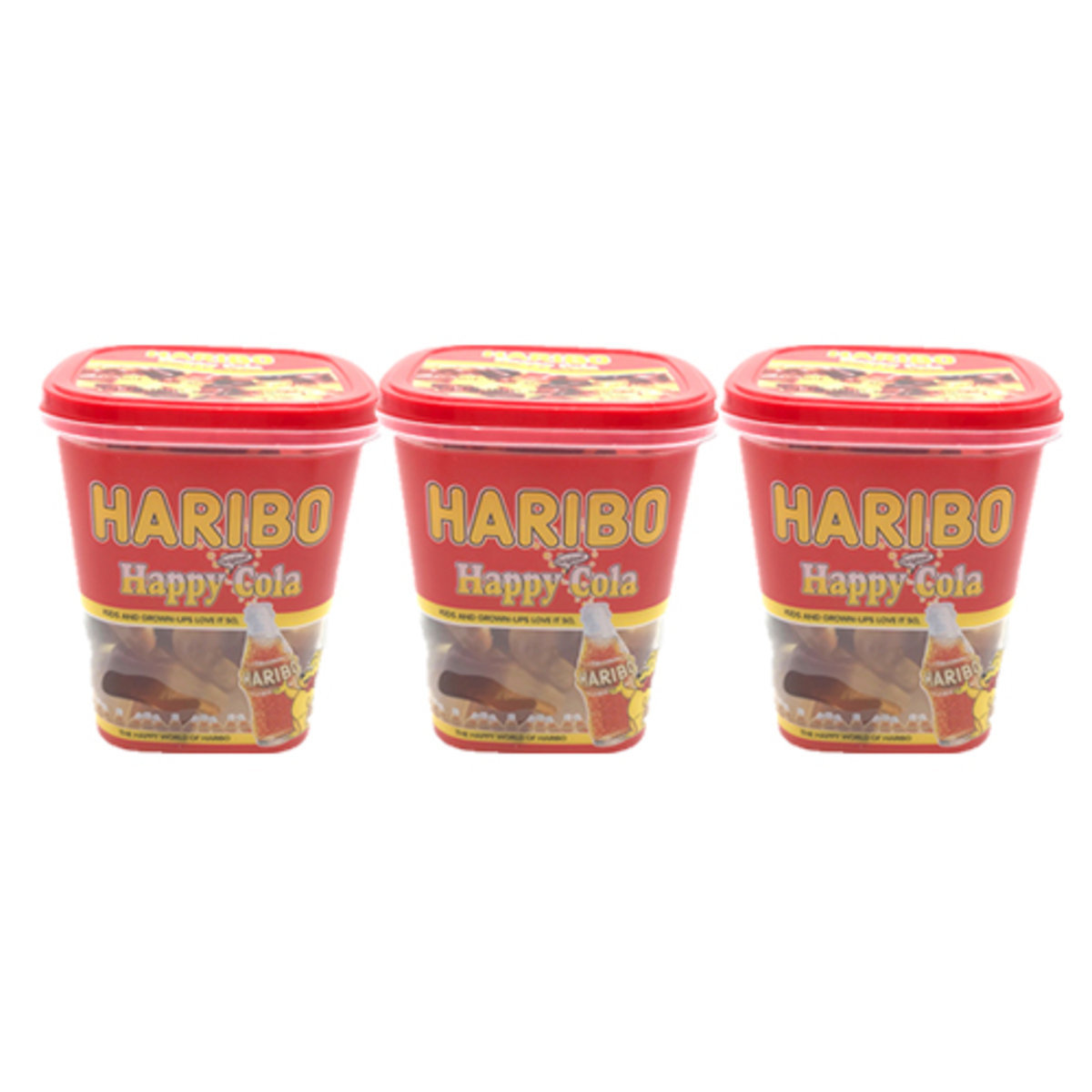 haribo happy cola cola flavour jelly candy box 175g x 3boxes