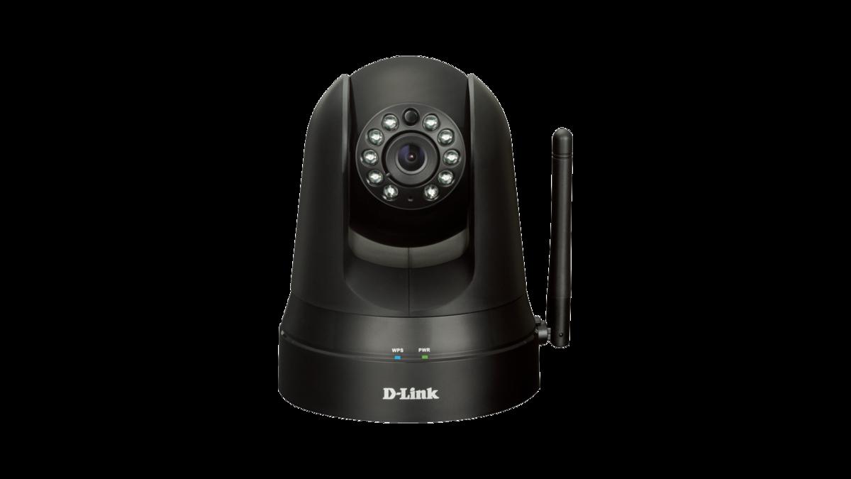 無線晝夜平移/傾斜云IP攝像機 黑色 Wireless N H.264 Day&Night Pan/Tilt Cloud Camera without Sound Detection (Black)