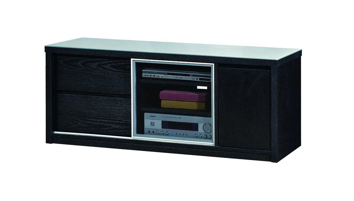 Alpha Furniture 308 04 Tv Cabinet Color Dark Walnut