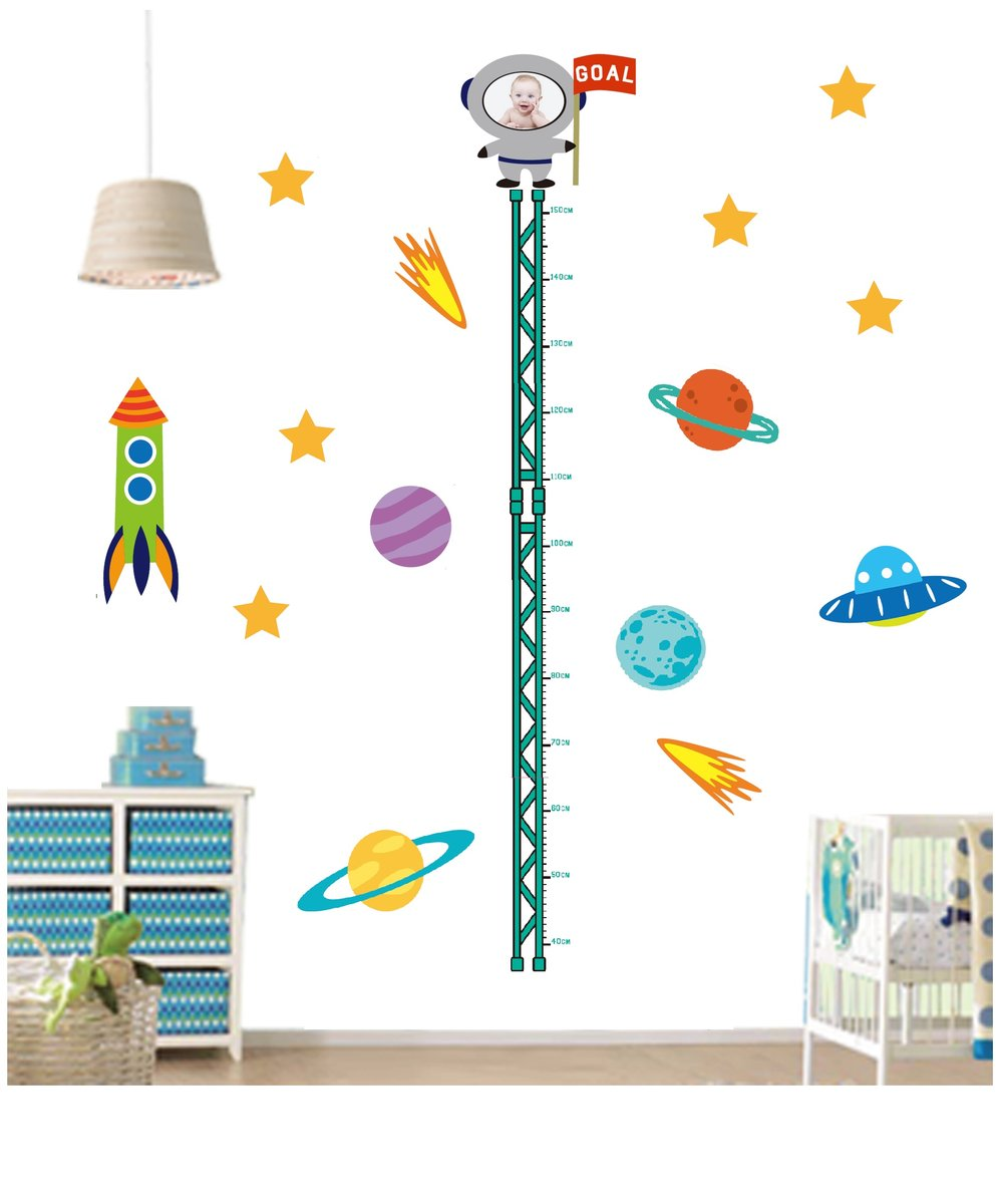 Quickfilm Growth Chart Wall Stickers Space Hktvmall Online