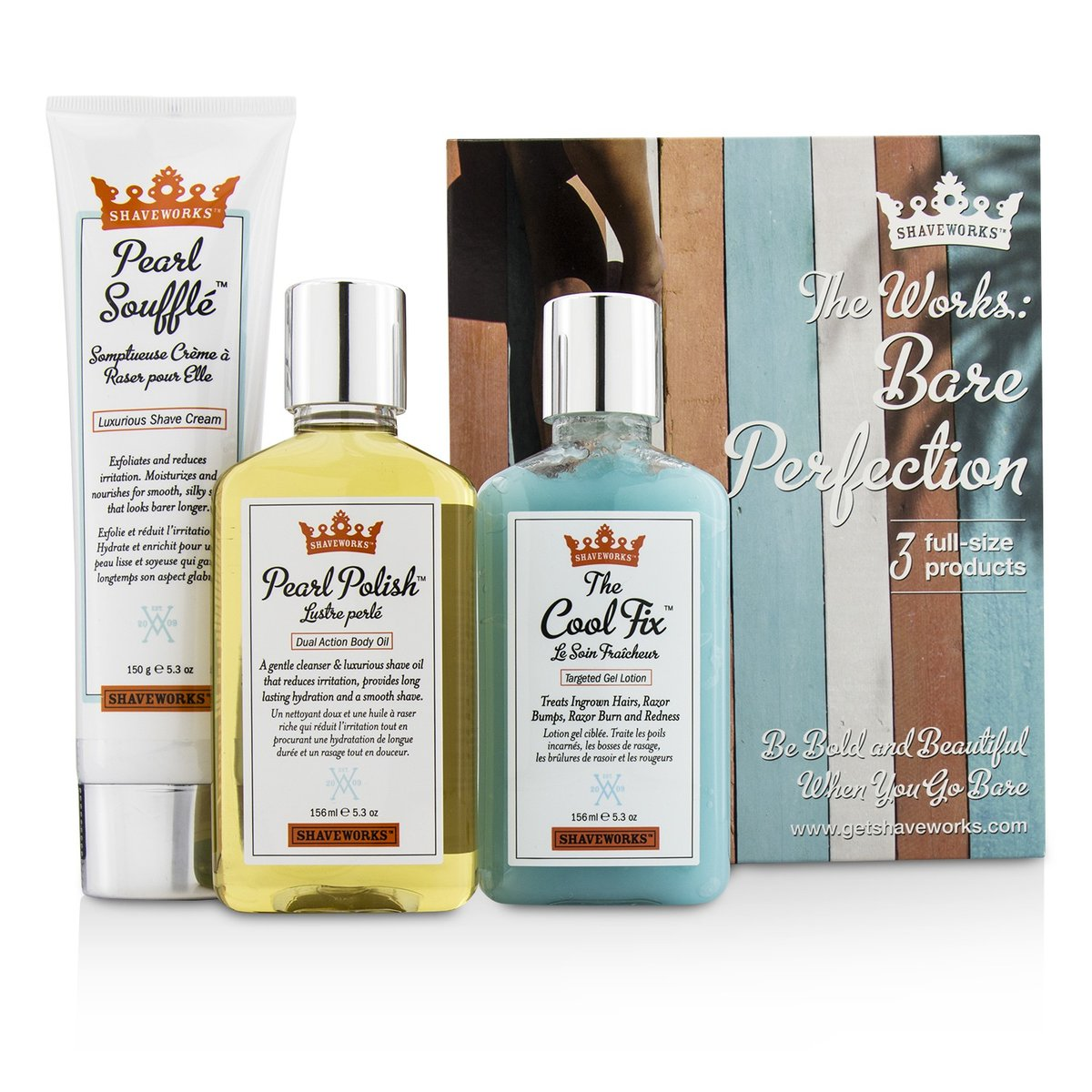 156ml Shaveworks Pearl Polish Dual Action Body Oil Cleanser & Shaving Oil