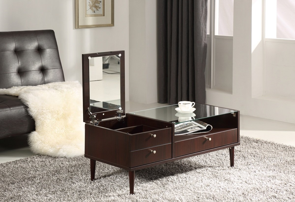 Coffee Table With Mirror Ct 038