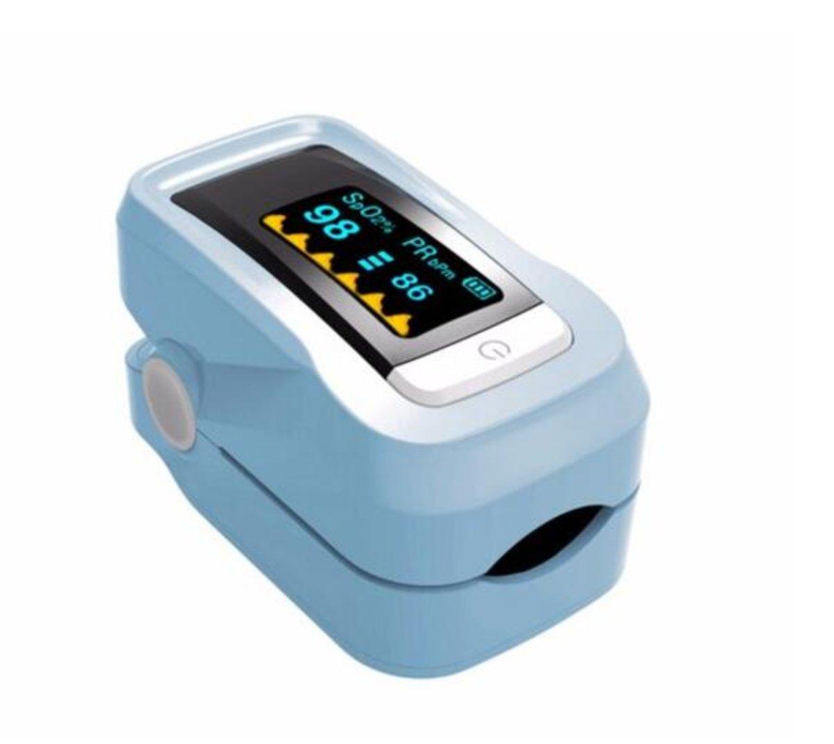 Fingertip Pulse Oximeters Heart Rate Monitor Blue Hktvmall Oximeter Spo2