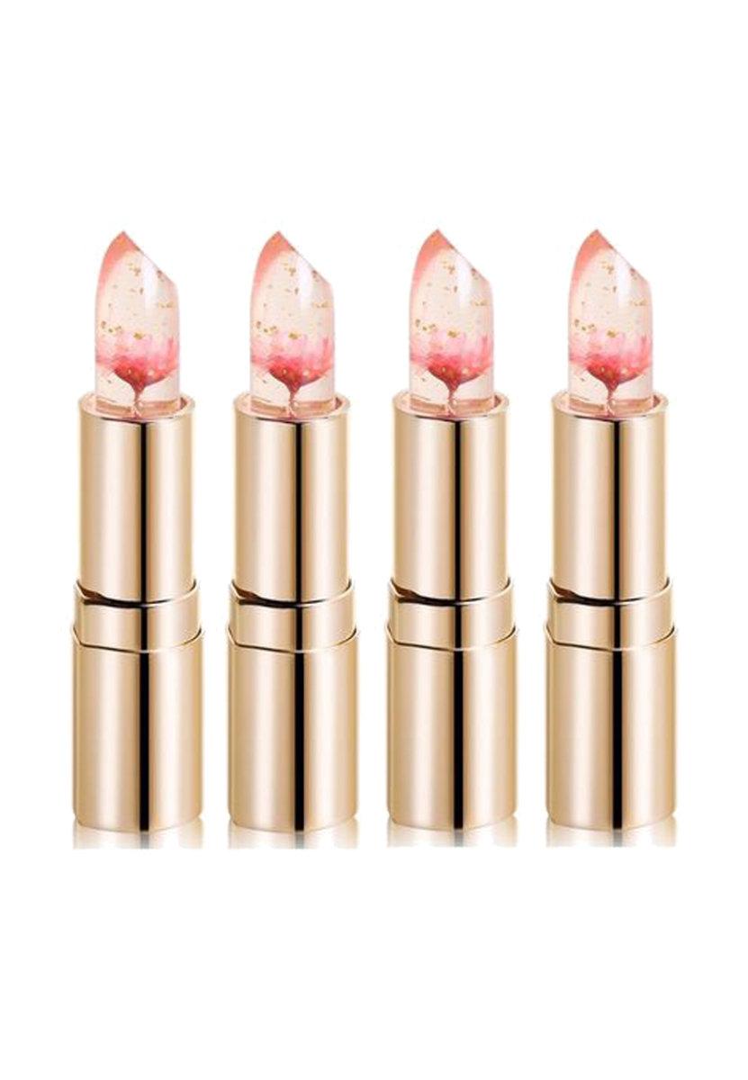 Limited An Edition Flower Jelly Lipstick Barbie Doll Powder 4 Pcs Set. Kailijumei Limited An Edition Flower Jelly Lipstick Barbie