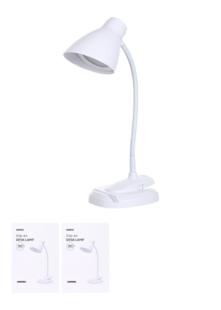 Clip On Desk Lamp With Infinite Brightness Adjustment White