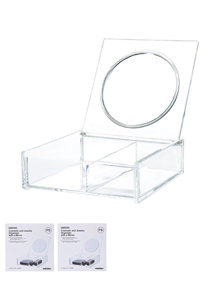 Miniso Cosmetic and Jewelry Organizer with a Mirror See Through