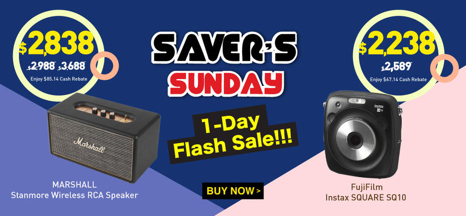 【Today ONLY】Saver's Sunday More Than 200 Items 1- Day Flash Sale