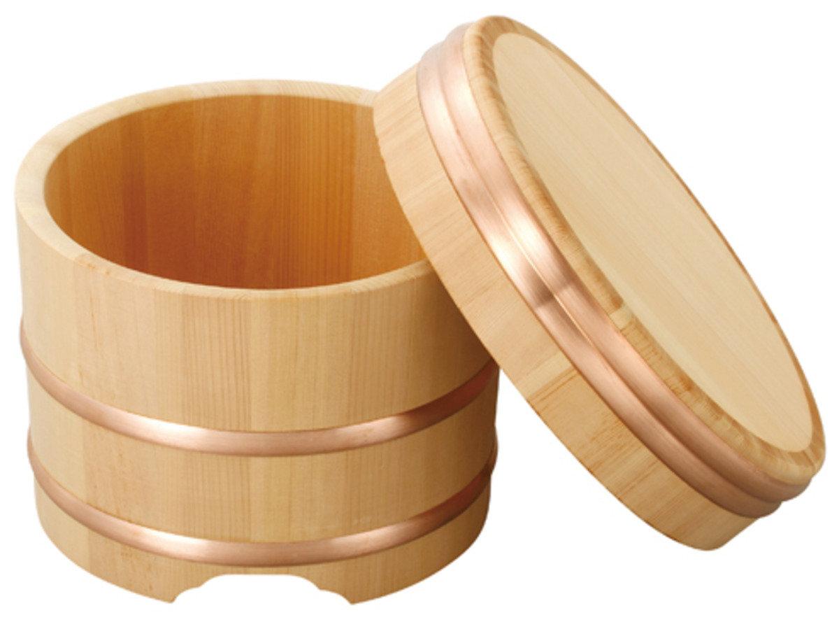 木曾椹 江戶櫃 木製飯桶 21cm