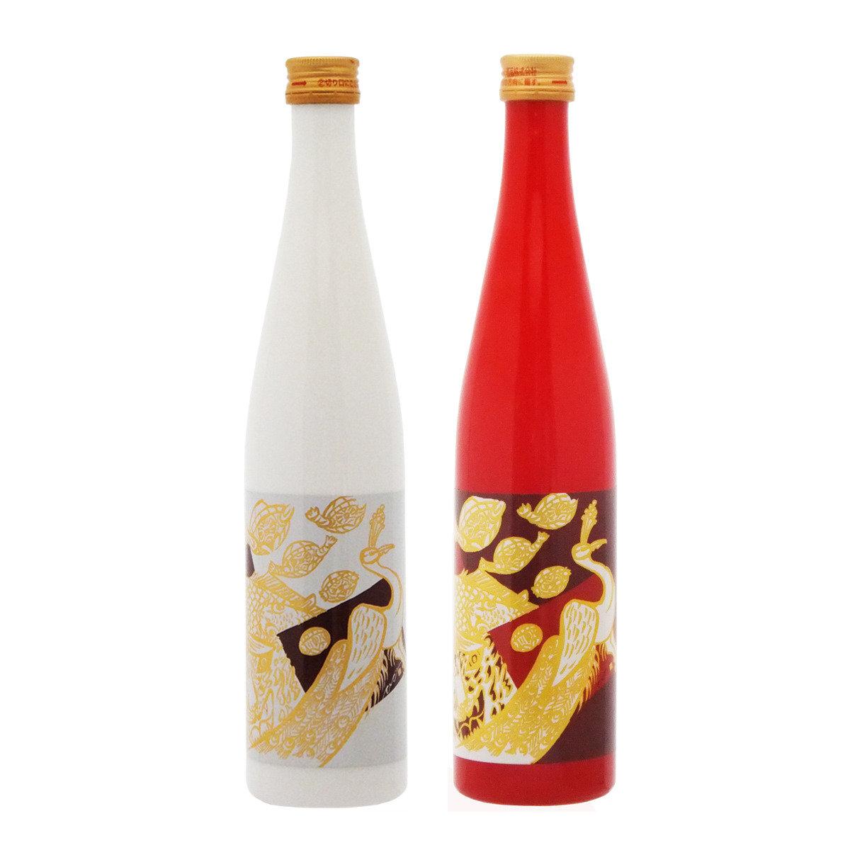 平安四神【紅白】日本酒禮品套裝 (500毫升 x 2)