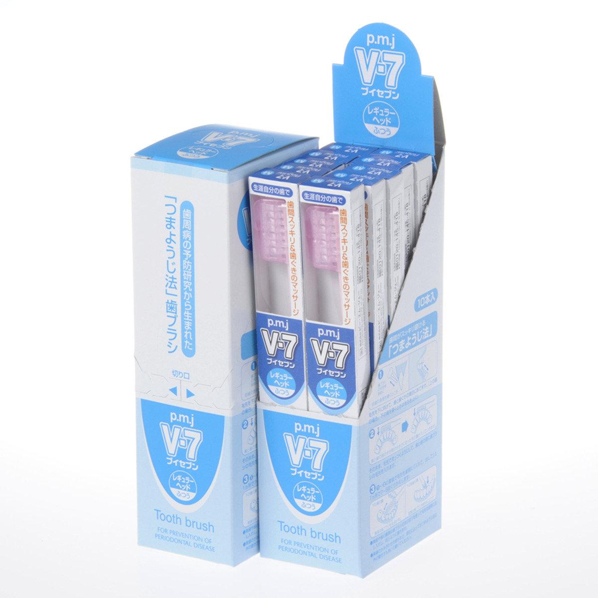牙籤式牙刷 V-7 普通刷頭 (20支裝)