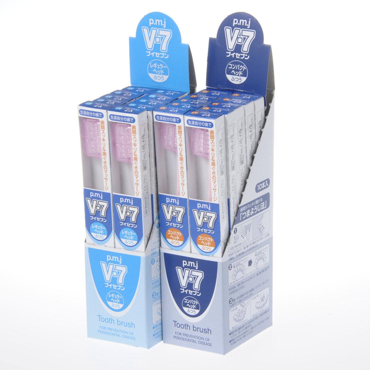 牙籤式牙刷 V-7 普通刷頭 (10支裝) + 尖頭刷 (10支裝)