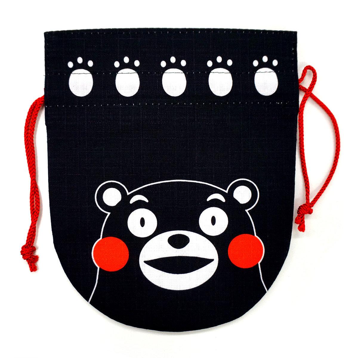 KUMAMON 多用途束繩袋 (黑)