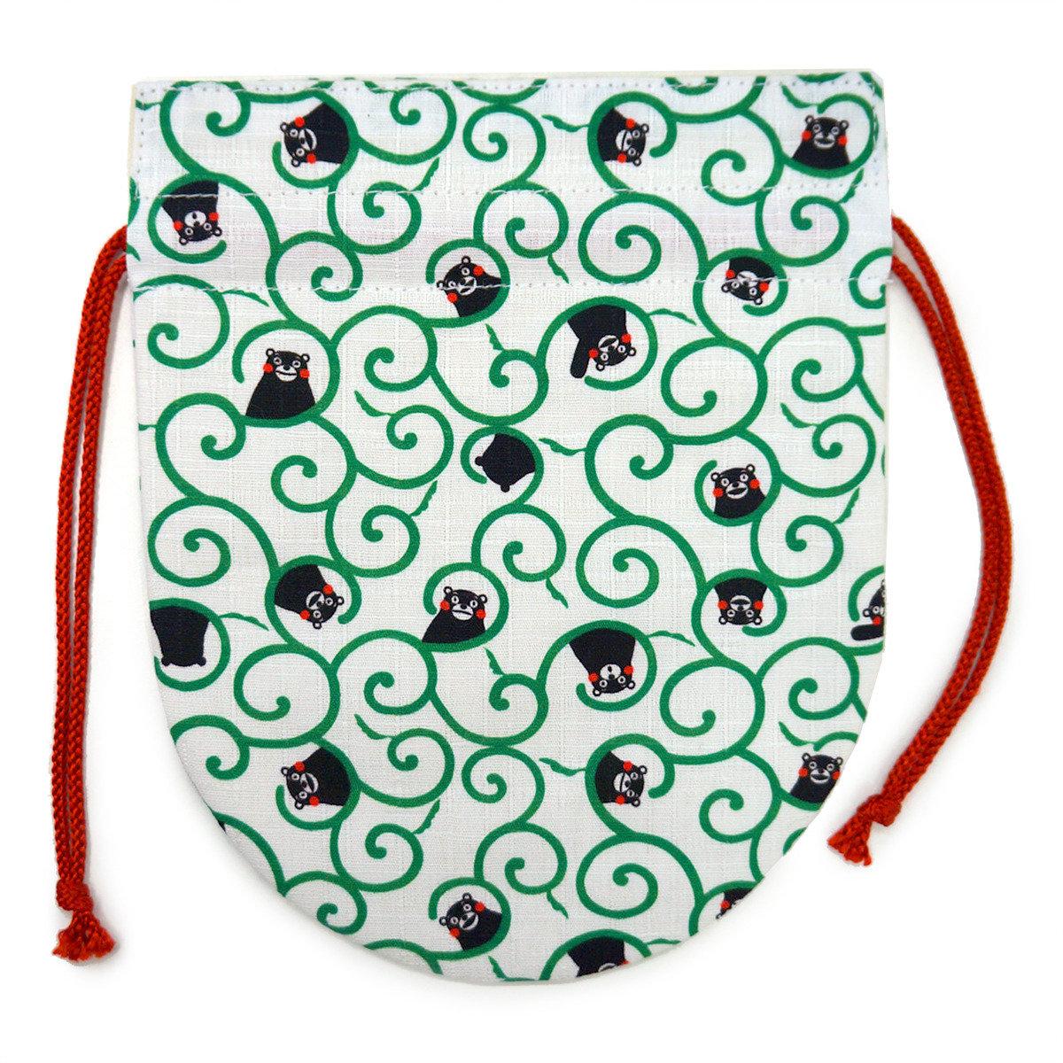 KUMAMON 多用途束繩袋 (蔓藤花紋)