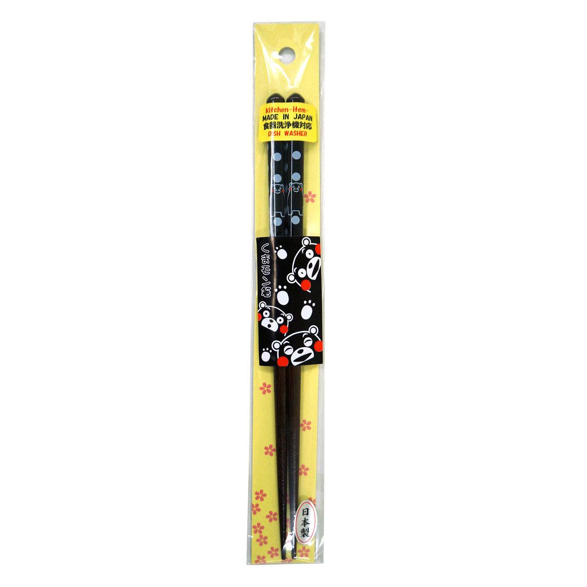 KUMAMON 筷子 (22.5cm) (波點 黑)