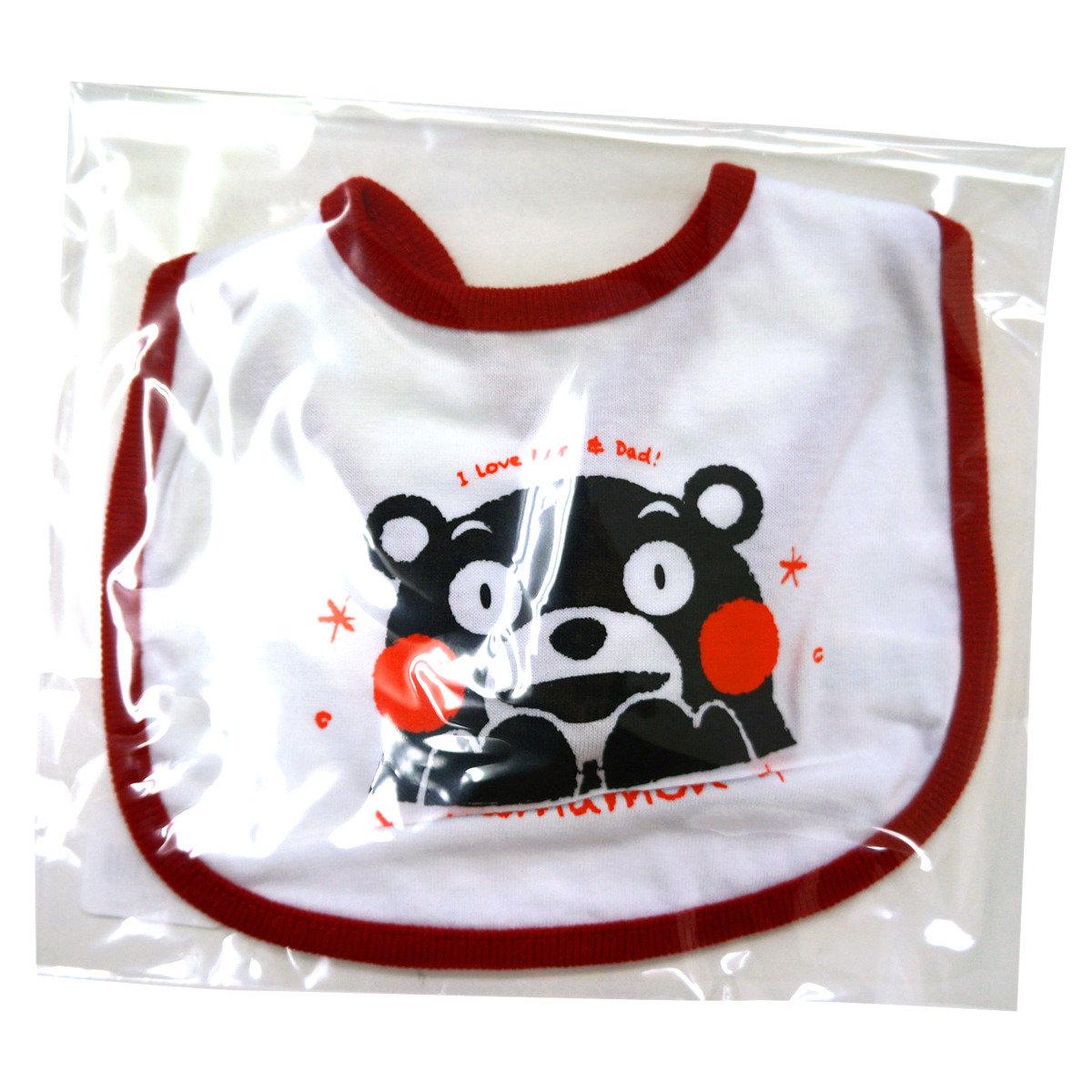 KUMAMON 嬰兒口水肩 (白紅)