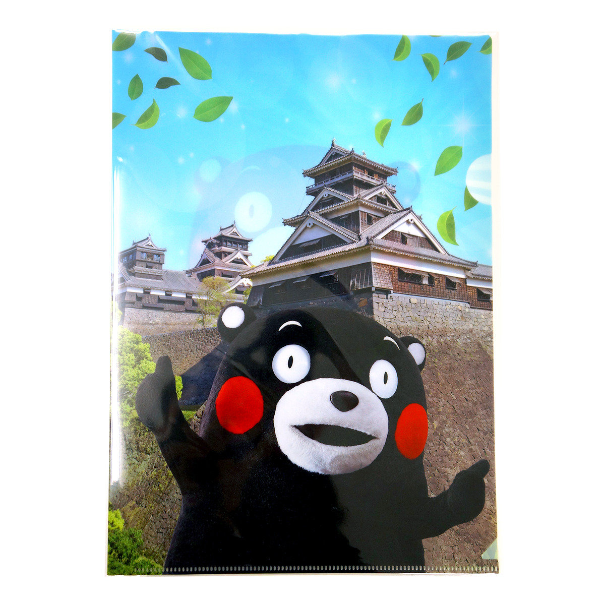 KUMAMON 熊本城與葉A4文件夾