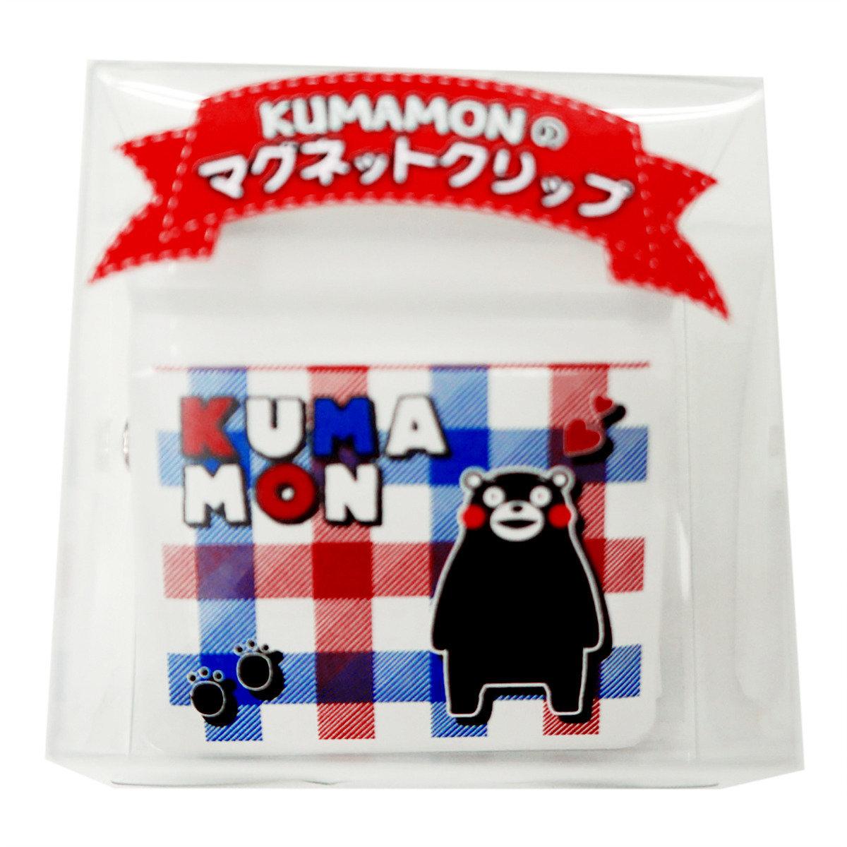 KUMAMON 磁石夾 (格紋全身)