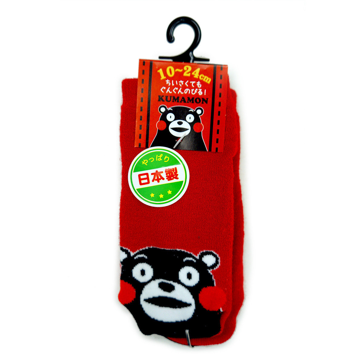 KUMAMON 襪 (紅 淨色)