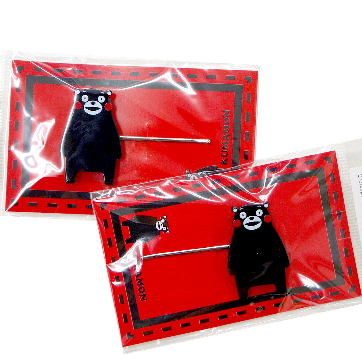 KUMAMON 全身髮夾 (2件裝)
