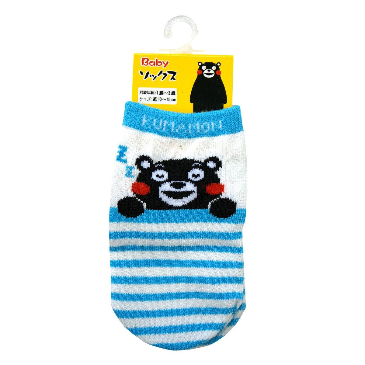 KUMAMON 嬰兒短襪 (藍)