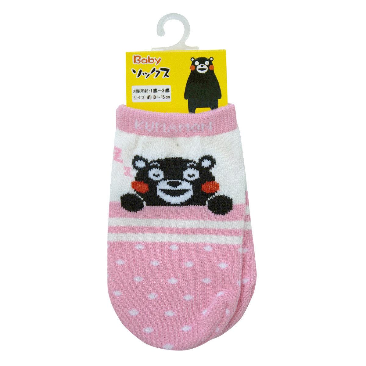 KUMAMON 嬰兒短襪 (粉紅)