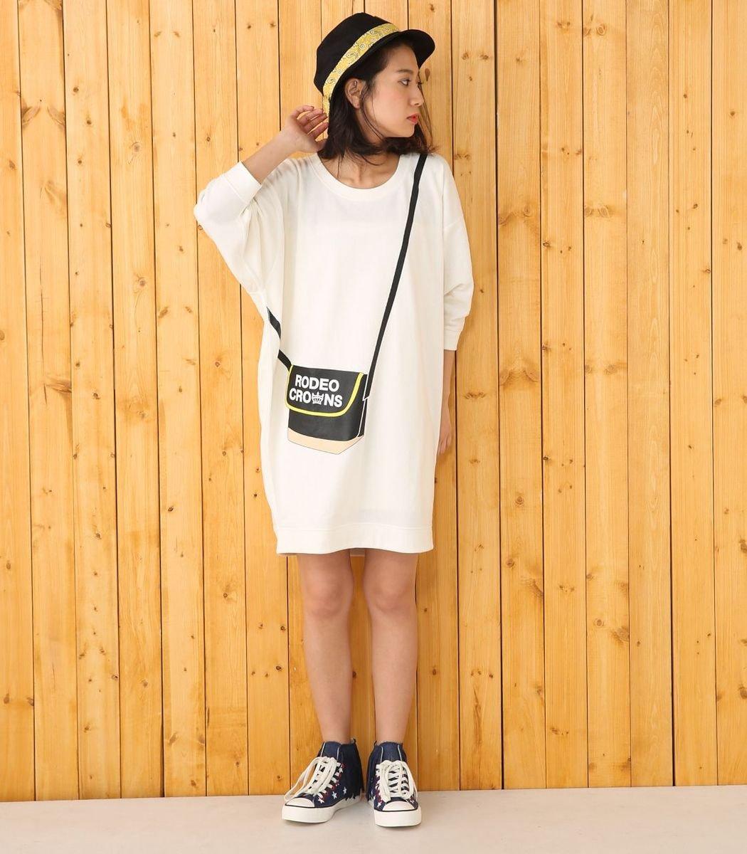 假側孭袋寬鬆連身裙