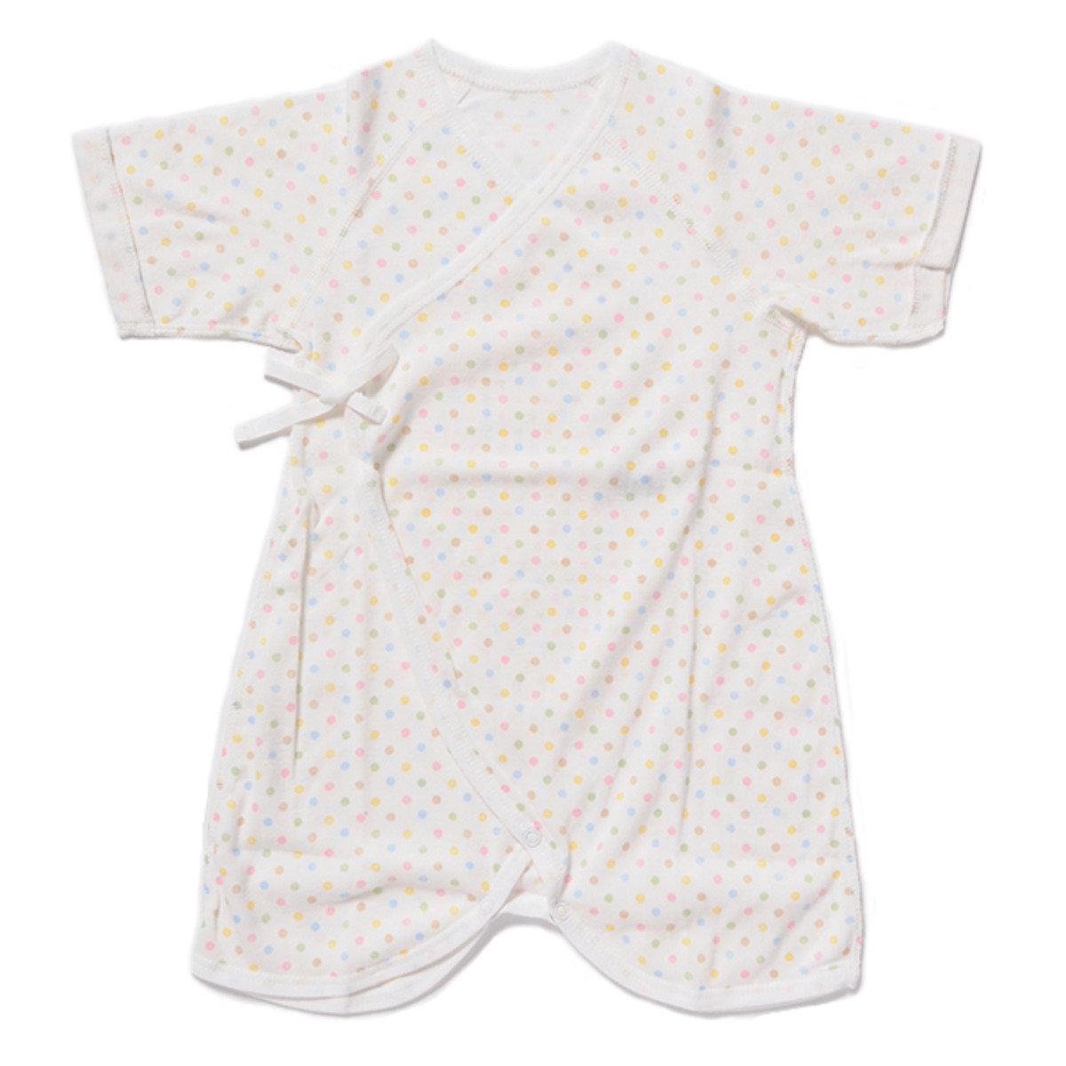嬰兒短袖蝴蝶衣(波點款)
