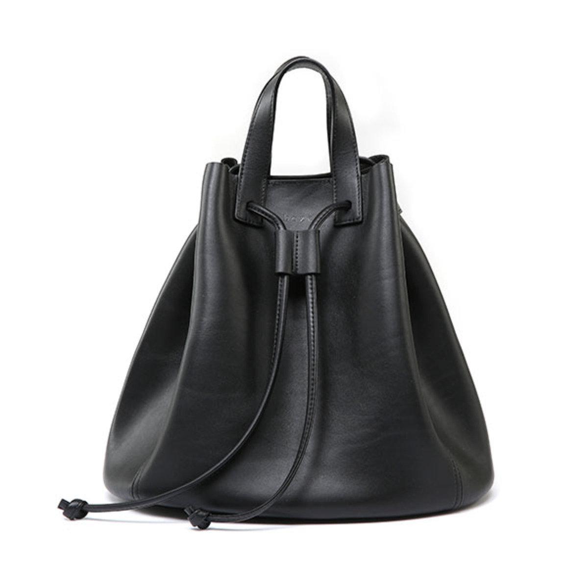 Lazada-真皮索繩袋 (黑色)