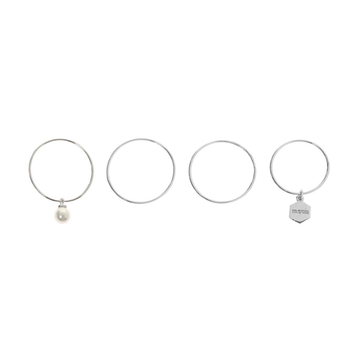 EVERY-RING 仿珍珠925銀組合戒指