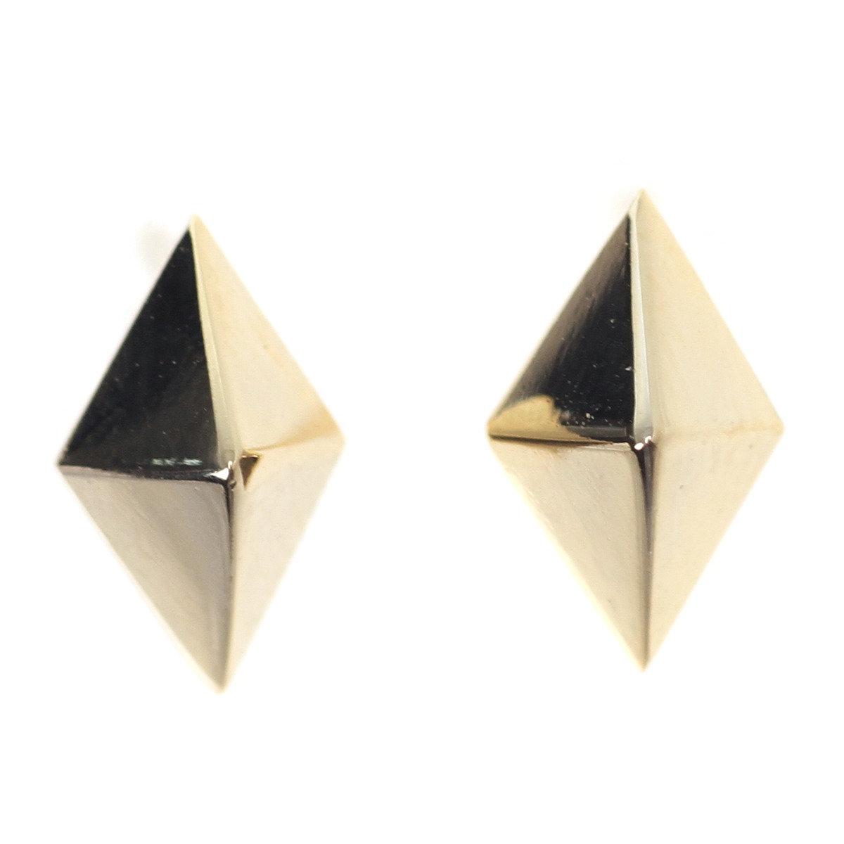 Shield-E 立體菱形耳環