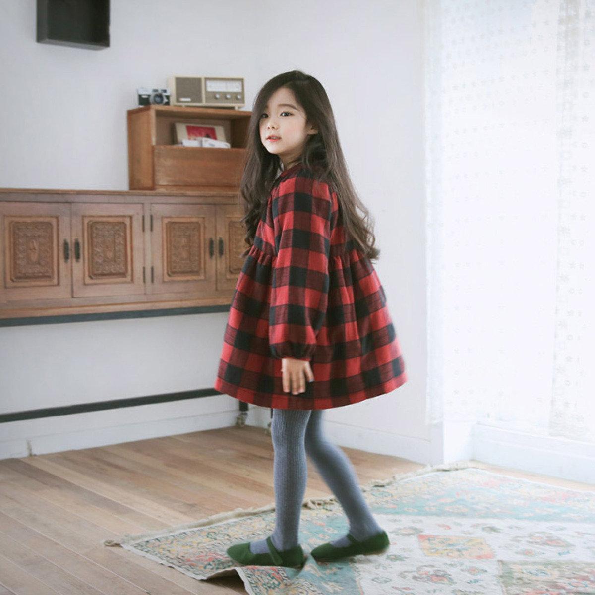 [15 W] 格仔圖案娃娃裙_S60133