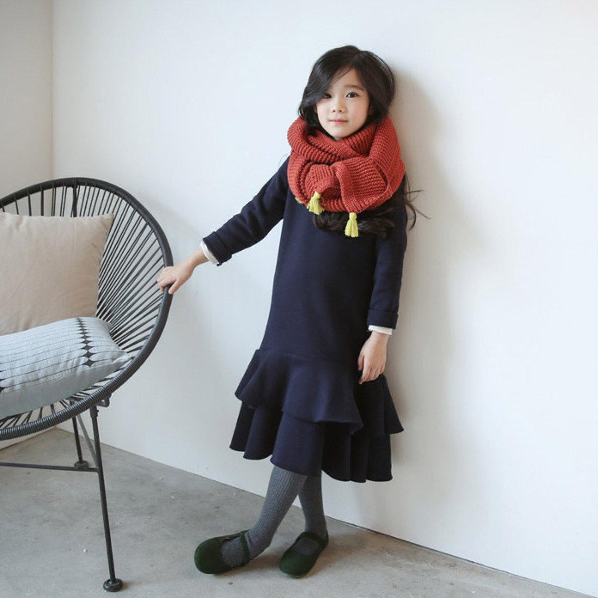 [15 W] 荷葉下擺款連身裙_S61144