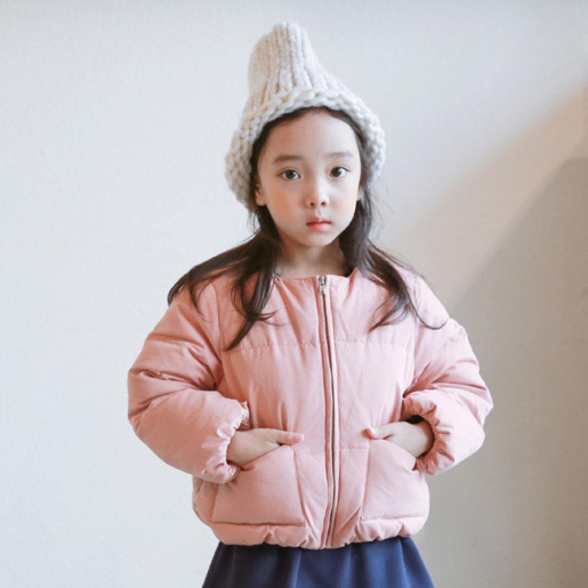 [15 W] 拉鏈羽絨外套_粉紅色(可配母子裝)_S60293