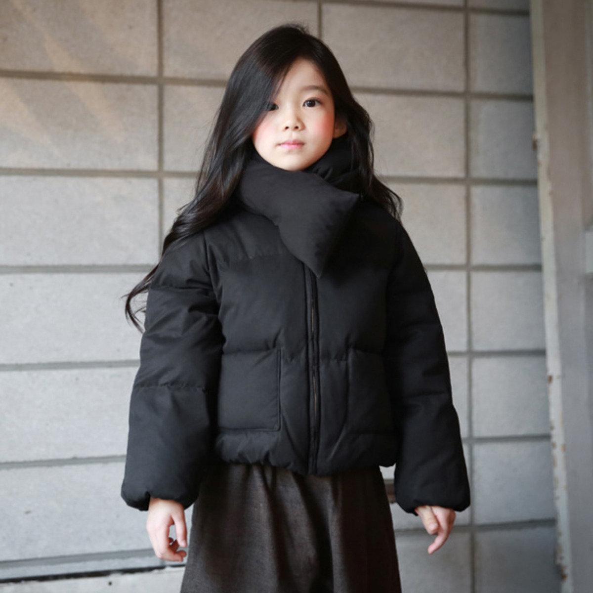 [15 W] 拉鏈羽絨外套_黑色(可配母子裝)_S60293