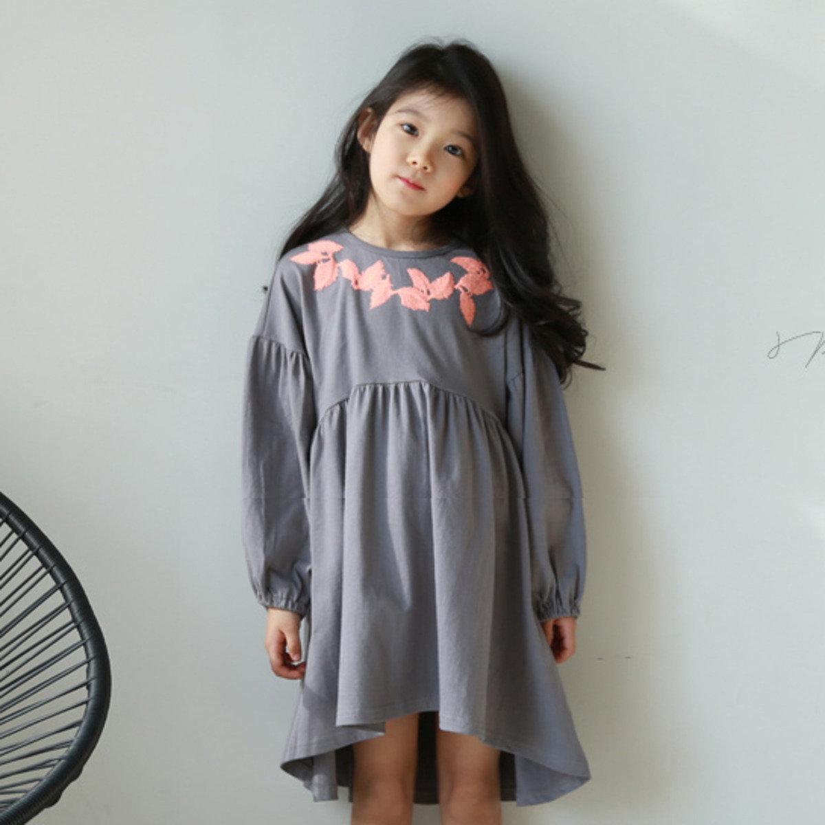 [16 SP] 刺繡圖案高腰裙_S64888