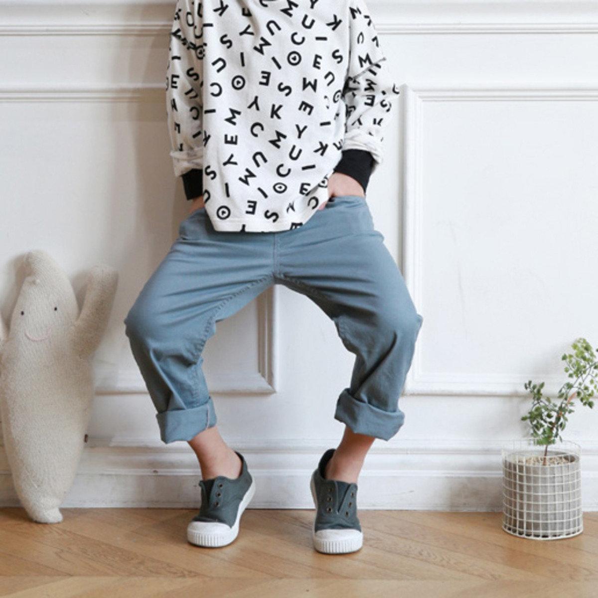 [16SP] 簡約純色休閒褲 (男童)_S63613
