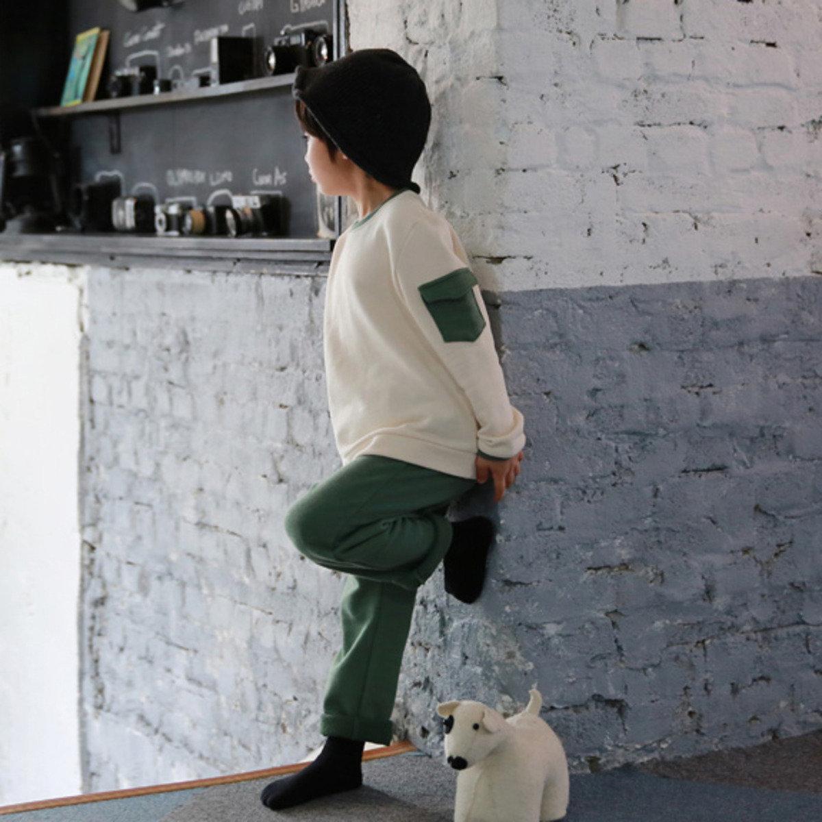 [16SP] 圓領長袖 T 恤連休閒褲 (男童套裝)_S63803