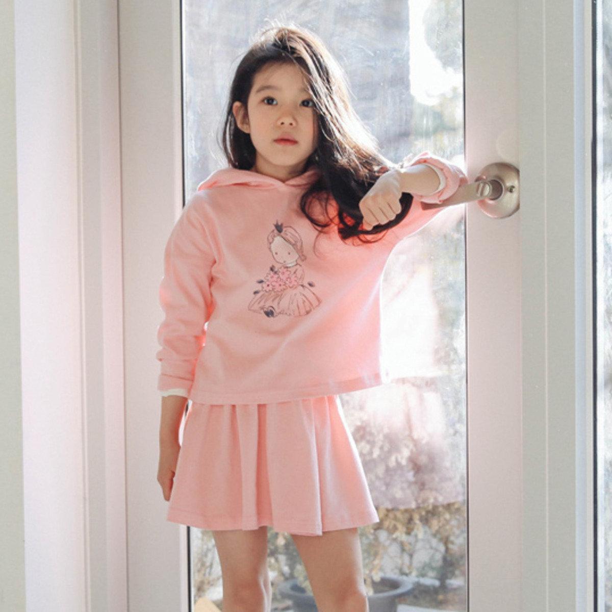 [16SP] 公主圖案上衣連半截裙(套裝)_S65501