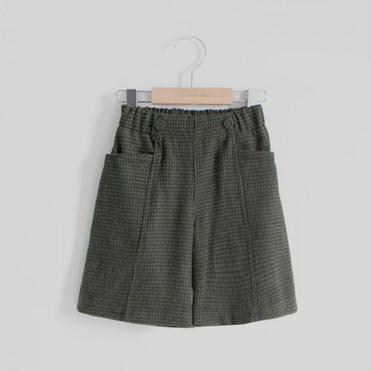[15 W] 千鳥格直桶短褲_S61885