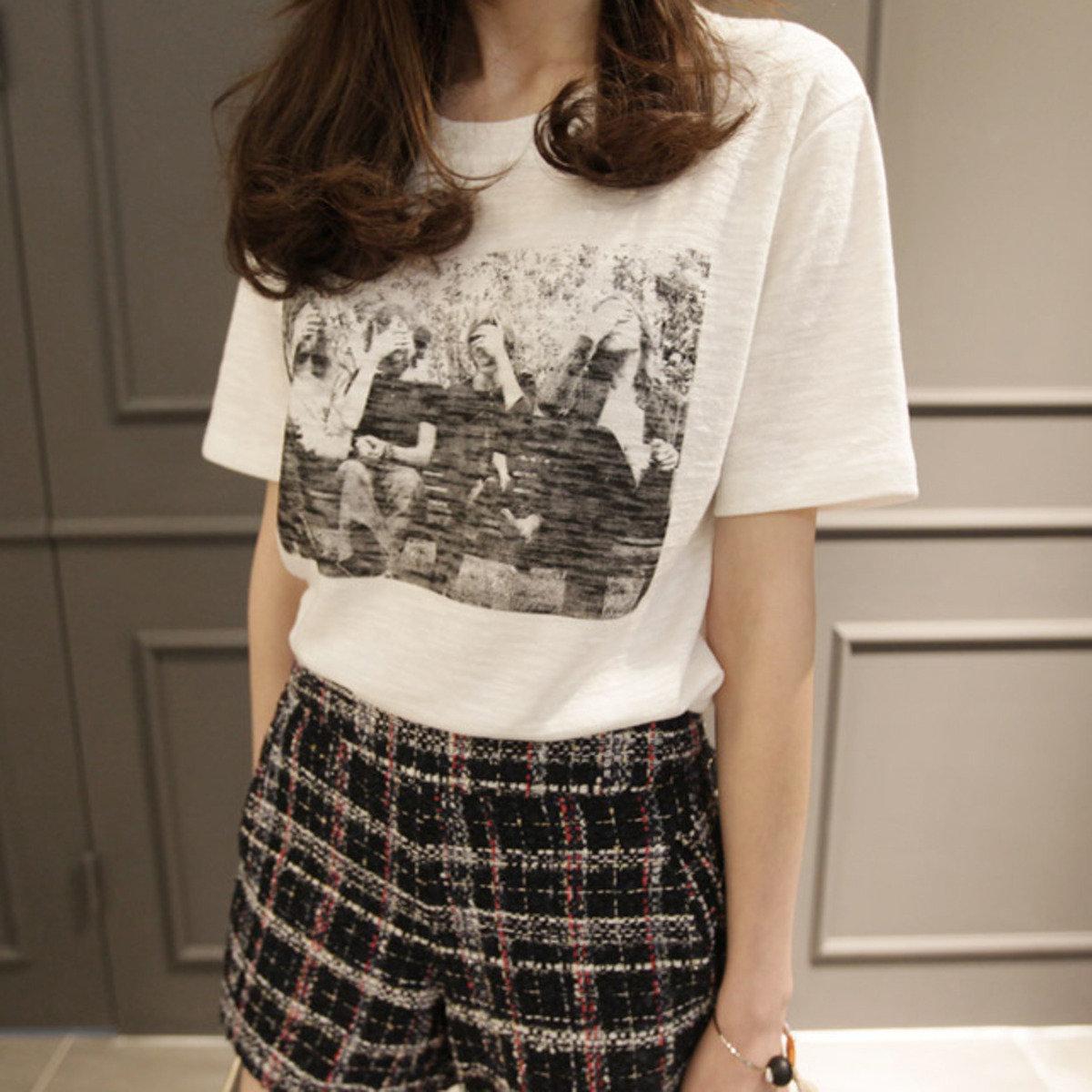 時尚圖案短袖T恤_P000BAPT