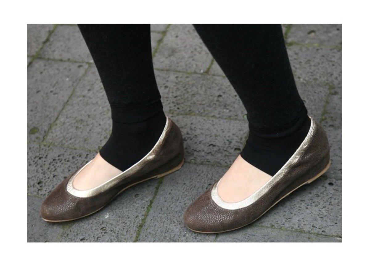 金邊蛇皮紋平底鞋_s3325