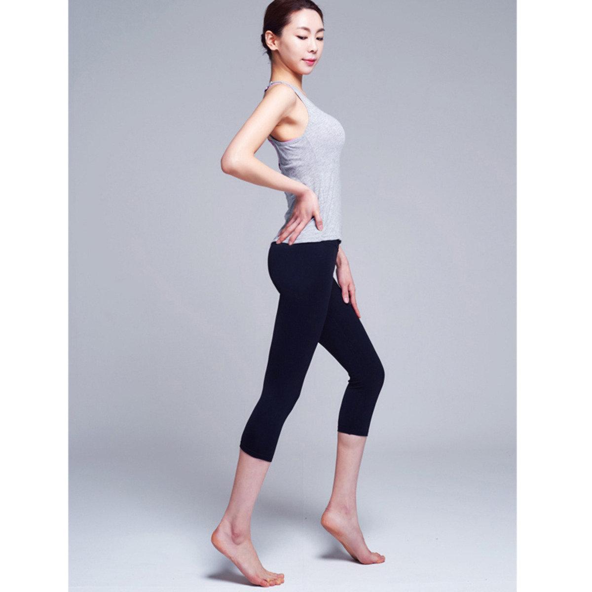 黑色緊身運動褲_y093