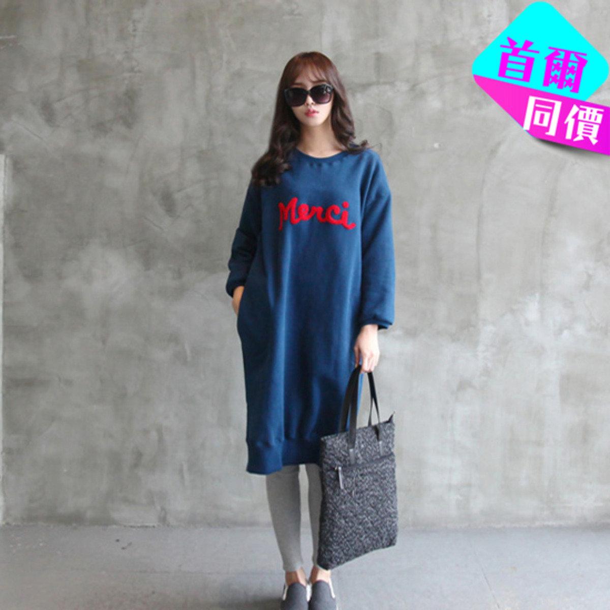 印字T恤款連身裙_22198_7203