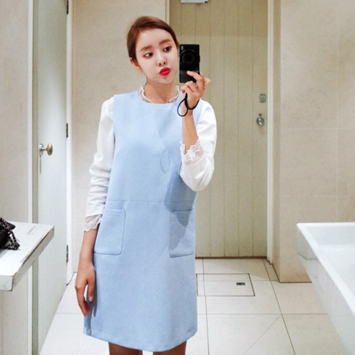 純色直身背心連身裙_C512MAOP11