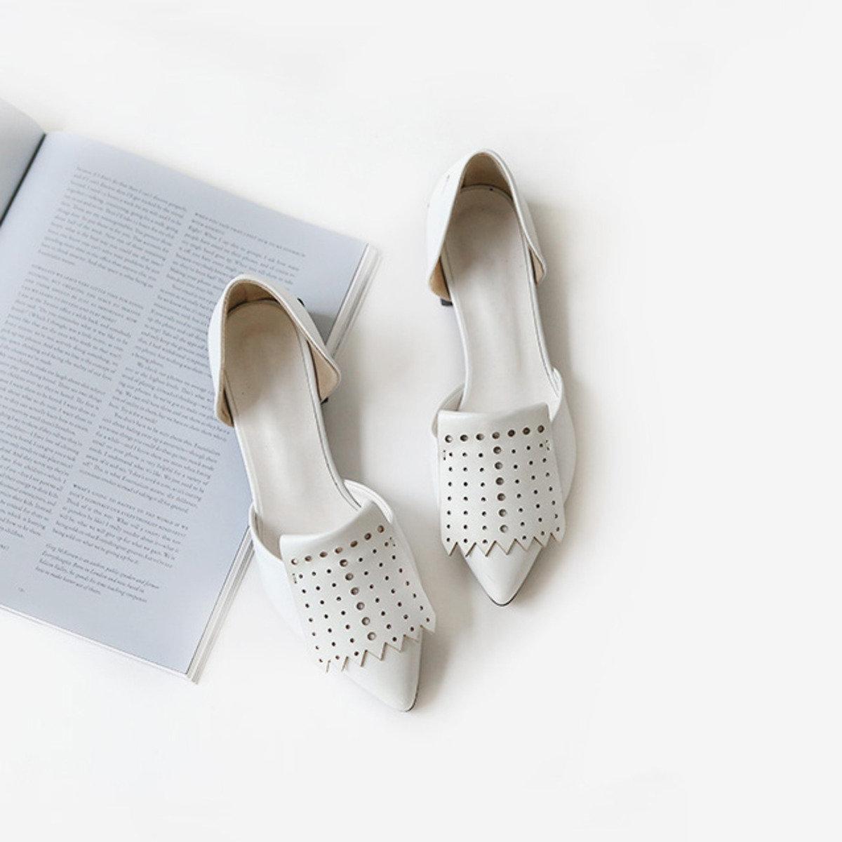 型格密頭平底鞋_C61YESH1