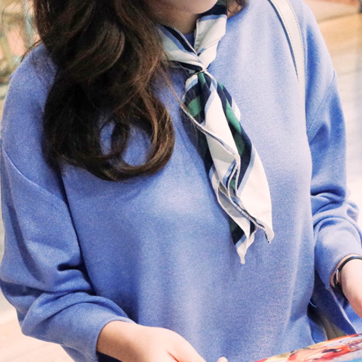 拼色斜紋時尚頸巾_C62PAMU4